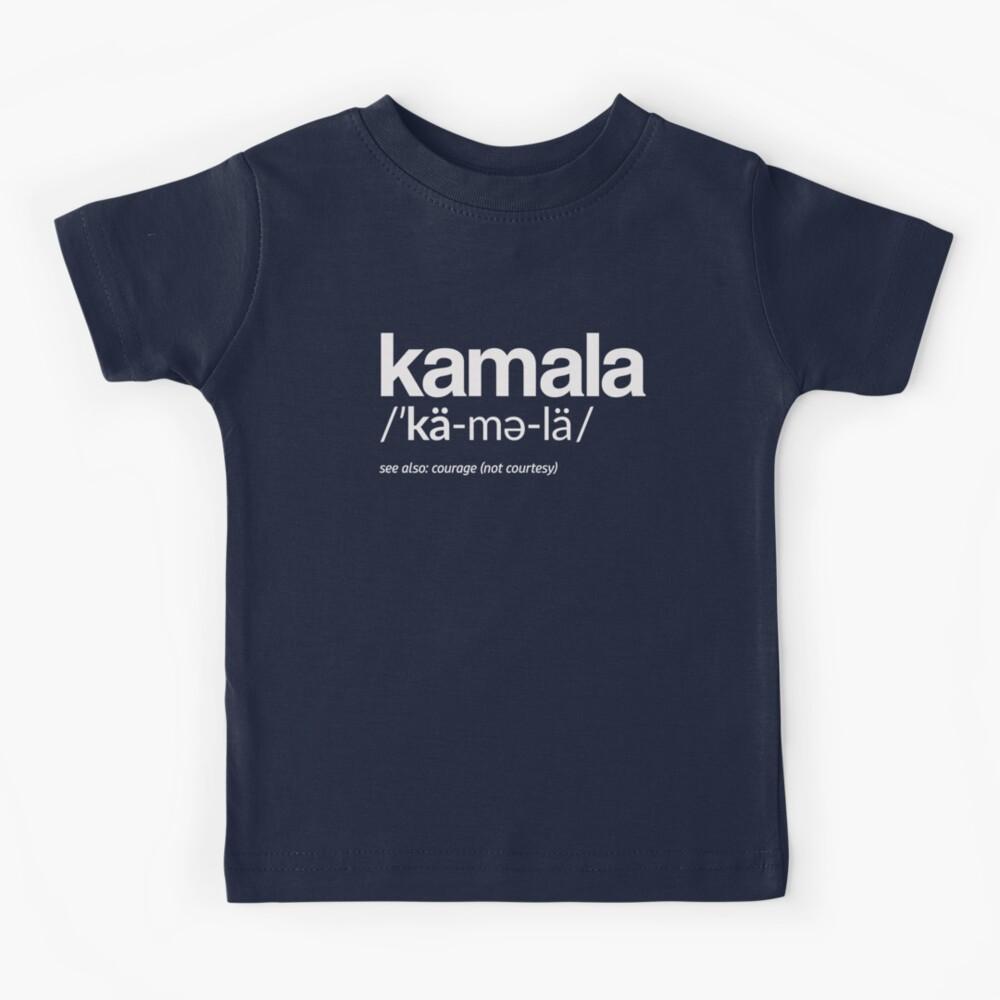 Kamala Harris 2020 Aussprache und Definition Kinder T-Shirt