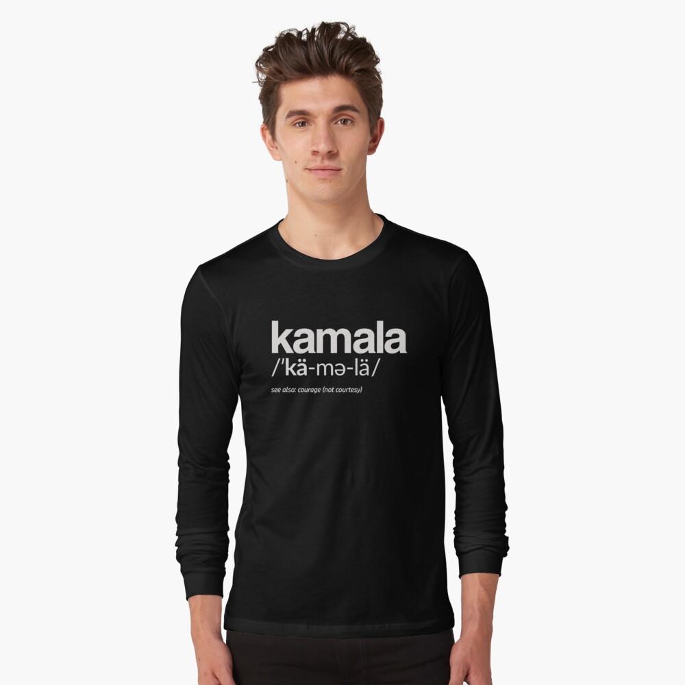 Kamala Harris 2020 Aussprache und Definition Langarmshirt