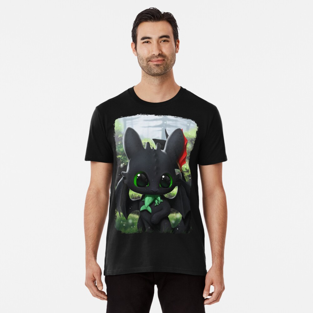 T-shirt premium « Toothless»