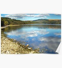Ponsticill Reservoir and Cloud Reflections Poster