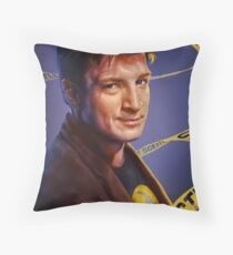 Nathan Fillion Throw Pillow