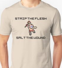 "Borderlands Psycho ""Strip The Flesh, Salt The Wound"" 8-Bit Pixel Art Slim Fit T-Shirt"
