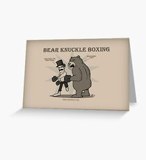 Bear Knuckle Boxing card Greeting Card