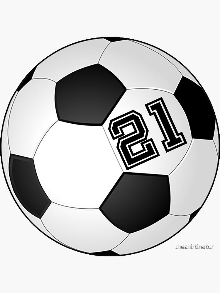 Fußball Spieler Trikot Nr Nummer 21 Rückennummer #21 Ball Sport Fussball Sticker Aufkleber Geschenk von theshirtinator