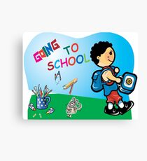 Going to school Canvas Print