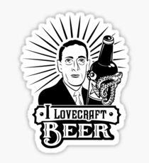 I Lovecraft Beer Sticker