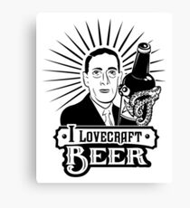 I Lovecraft Beer Canvas Print
