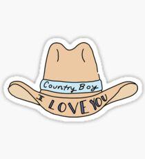 Country Boy Ich liebe dich - Rebe Sticker