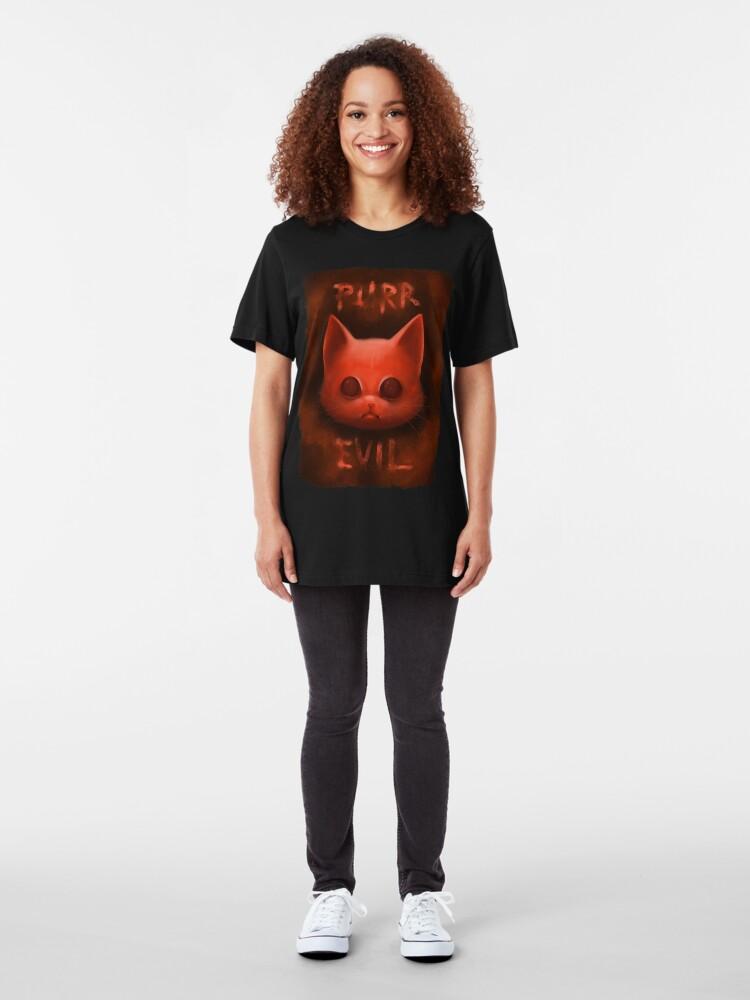 T-shirt ajusté ''PurrEvil': autre vue