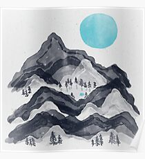 The Sun in Moon Lake... Poster