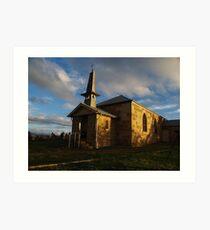 Church, Ouse- Tasmania Art Print