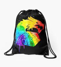 Rainbow Dragon D20 D&D Drawstring Bag