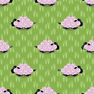 Pastel Sheep Pattern by DanielBevis