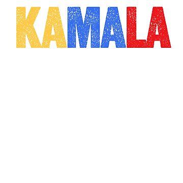 KAMALA - YELLOW, BLUE, RED by queendeebs
