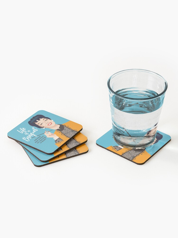 Alternate view of Banquet! Coasters (Set of 4)