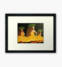 Golden Mele Framed Print