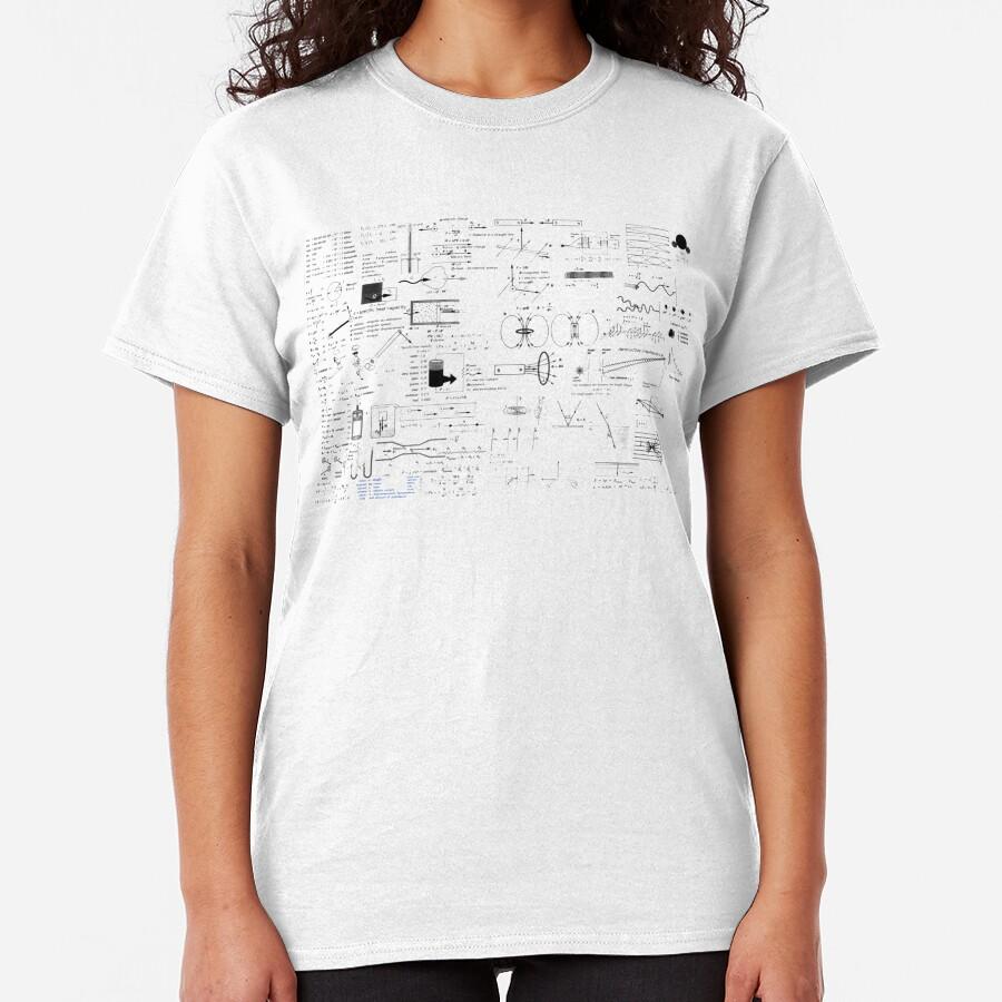 Physics Equations - Physics Formulas Classic T-Shirt
