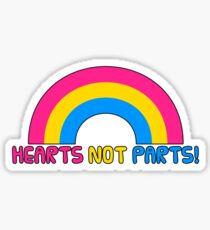Hearts Not Parts Sticker