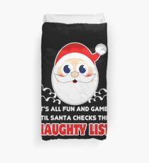Fun and Games - Santa checks the Naughty List Bettbezug