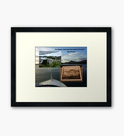 Port Chalmers Harbour 1873-2010 South Island, New Zealand Framed Print