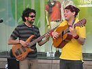 Happy buskers by erwina