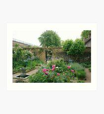 Elizabethan walled garden, Geffrye Museum, Shoreditch Art Print