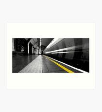 Behind the Line, Balham Station Art Print