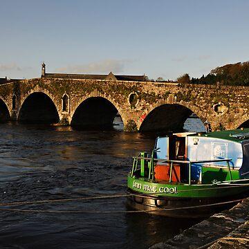 Barge and Bridge, River Barrow, Graiguenamanagh, Co. Kilkenny, Ireland by AndyJones