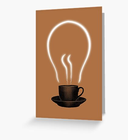 The power of coffee Greeting Card