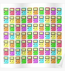 Game Boy Color Pixel Art Poster