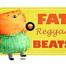 Fatty Fatty Fat Reggae Cat by colonelle