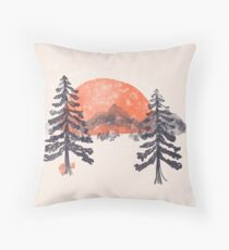 First Snow... Throw Pillow