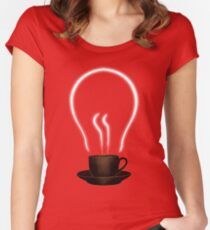 The power of coffee Women's Fitted Scoop T-Shirt