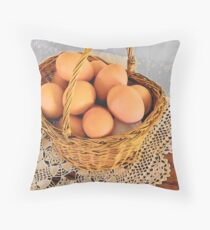 Eggs in a Basket Throw Pillow