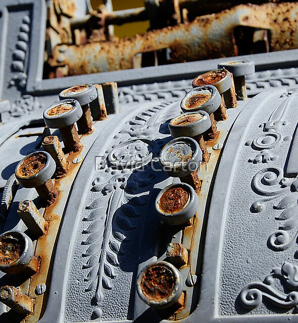 Detail of Cash Register Artwork, Callejon de Hamel,  Havana, Cuba by David Carton
