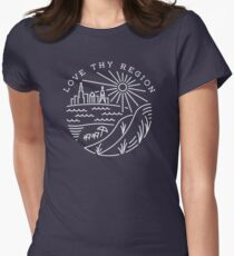The City Across the Lake Women's Fitted T-Shirt
