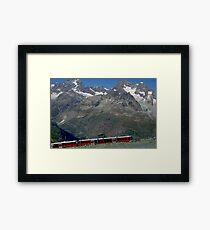 Gornergrat Train Zermatt Switzerland Framed Print