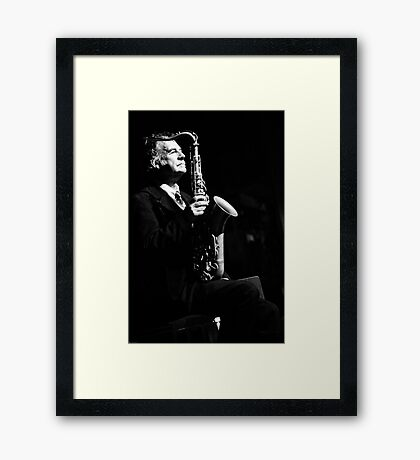 Jazz in the veins Framed Print