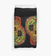 Painted Skull Duvet Cover