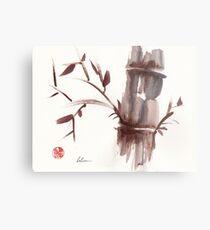 'Listen'  original ink wash sumi-e bamboo painting Metal Print
