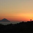 Sunset at Lipari by Lidiya
