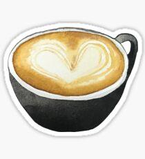 Latte Art Coffee Sticker