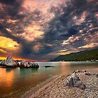 Sunset at Milia beach - Skopelos island. by Hercules Milas
