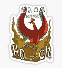 Bros Before Ho-ohs Sticker