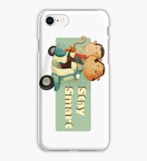 Stay Smart Scooter Monkeys iPhone Case/Skin