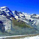 Gornergrat range Zermatt Switzerland by Monica Engeler
