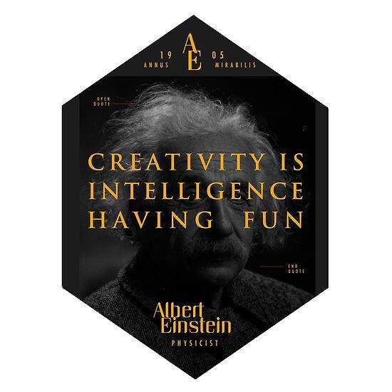 «Cita de: Albert Einstein sobre la creatividad - Camisetas, pósters, pegatinas y regalos» de tasnim-saadon