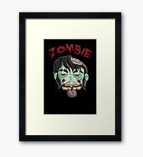 zombie music(less) print... Framed Print