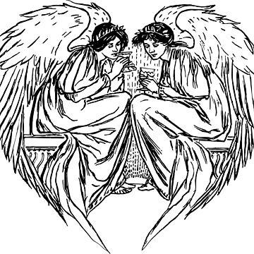 Engel skizze von THELOUDSiLENCE