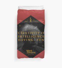 Funda nórdica Cita de: Albert Einstein sobre la creatividad - Camisetas, pósters, pegatinas y regalos